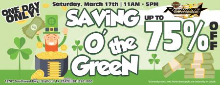 Saving O' The Green Event
