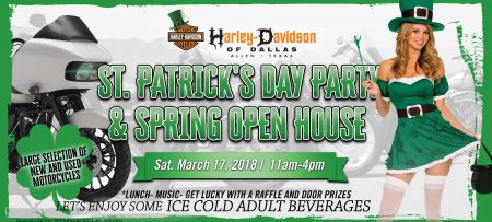 St. Patrick's Day Party and Spring Open House