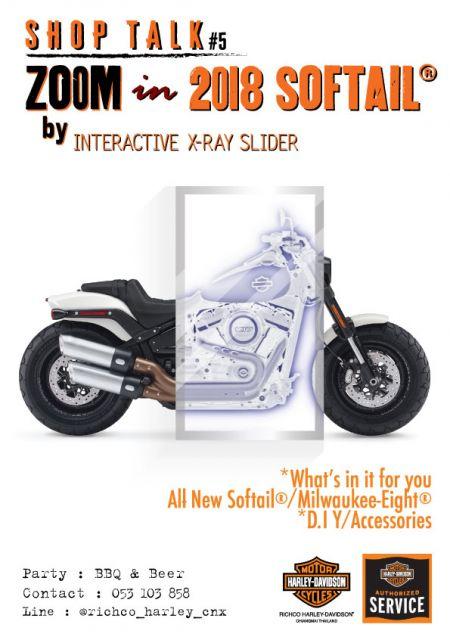 Shop Talk # 5 : Zoom in 2018 Softail®