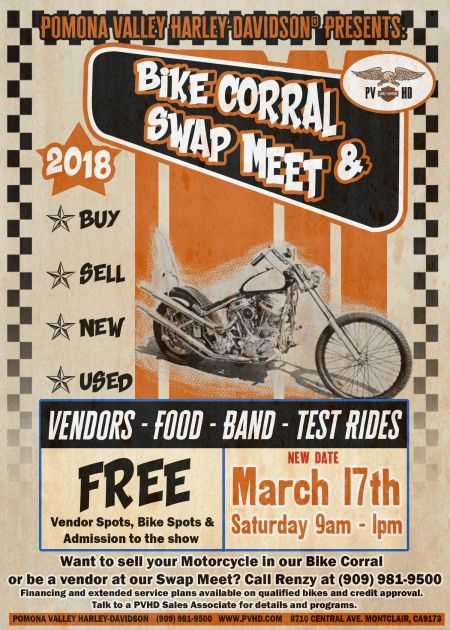 NEW DATE FOR BIKE CORRAL AND SWAP MEET!