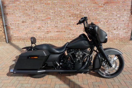 2010 FLHX Street Glide in Black Denim Full Custom