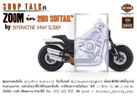 SHOPTALK 5 : Zoom In 2018 Softail®