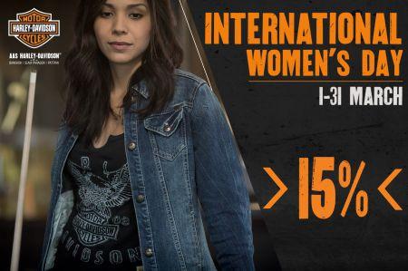 โปรโมชั่นพิเศษร่วมฉลองวันสตรีสากลเพียงซื้อสินค้าสุภาพสตรีในบิลนั้นๆลดทันที 15% !!