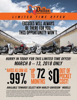 Special March Financing Offer