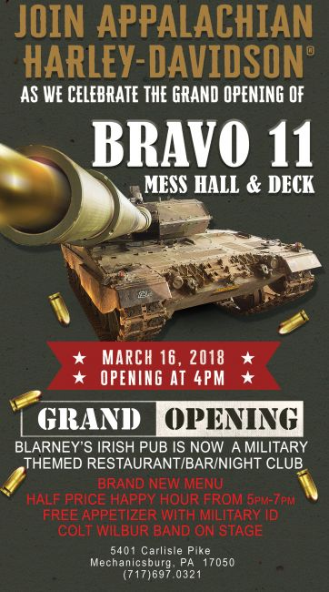 Grand Opening of Bravo 11 Mess Hall & Deck