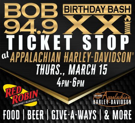 Bob 94.9 Birthday Bash Ticket Stop