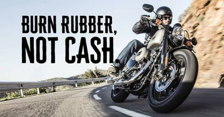 BURN RUBBER, NOT CASH.