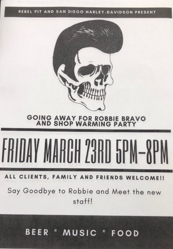 Rebel Pit Going Away Party for Robbie the Barber