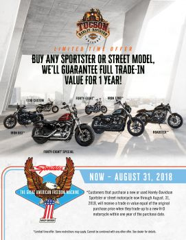 Sporster & Street Model Limited Time Trade In Offer