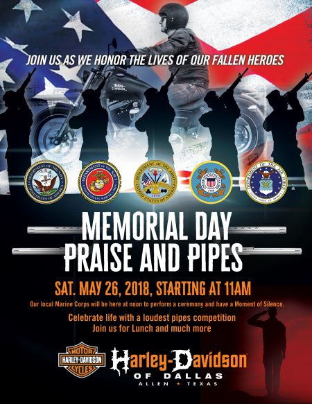 Praise and Pipes Memorial Day