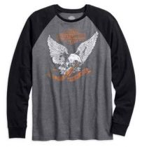 Men's Eagle Raglan Sleeve Slim Fit Shirt, Charcoal