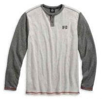 Men's Double Knit Long Sleeve Henley Shirt