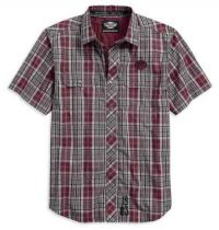 Men's Plaid Cotton Dobby Short Sleeve Woven Shirt
