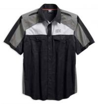 Men's Performance Vented Colorblocked Woven Shirt