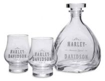 H-D Decal Graphics Glass Decanter & Glass Set