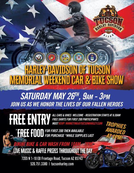 Memorial Weekend Car Bike Show HarleyDavidson Tucson - Car and bike show