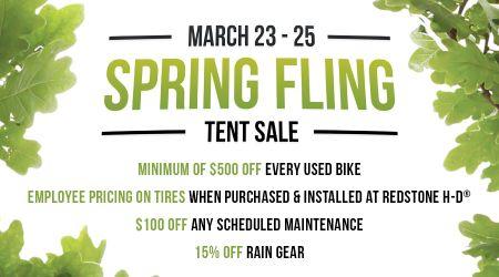 Spring Fling Tent Event