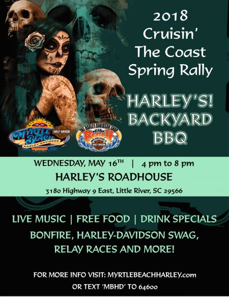 2018 Cruisin' The Coast Spring Rally - Harley's Backyard BBQ