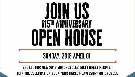 115TH ANNIVERSARY TUSKER H-D OPEN HOUSE.