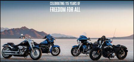 ハーレーダビッドソン115周年記念 全国一斉フェア開催中!