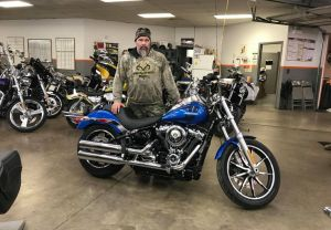 Matt and his new 18 FXDL lowrider