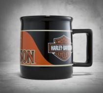 Transportation Orange and Black Mug