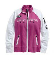 Colorblock B&S Graphic Full Zip Mock Neck Pink Activewear jakna