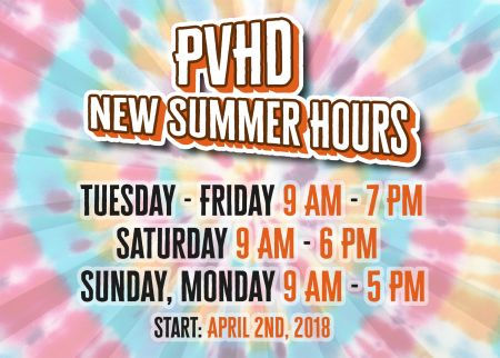 NEW SUMMER HOURS!