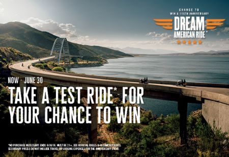 Chance to Win a Dream American Ride!