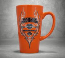 Harley-Davidson Pinstripe Flames Ceramic Latte Mug