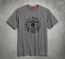 TEE-SKULL SHIELD,GRY,CSTM