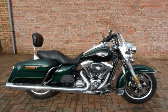 2016 FLHR Touring Road King Two Tone Deep Jade Pearl
