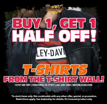 T-Shirts BUY 1 get 1 HALF OFF