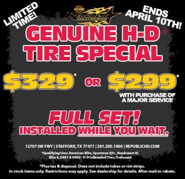 GENUINE H-D® Tire Special