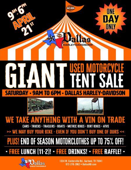 GIANT Used Bike Tent Sale