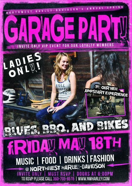 Annual LADIES ONLY Spring Garage Party - INVITE ONLY