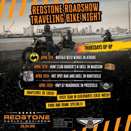 Redstone Roadshow Traveling Bike Night - THE HOT SPOT