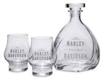 Harley-Davidson® H-D Decal Graphics Glass Decanter & Glass Set