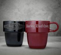 Harley-Davidson® Stackable Ceramic Mug Gift Set