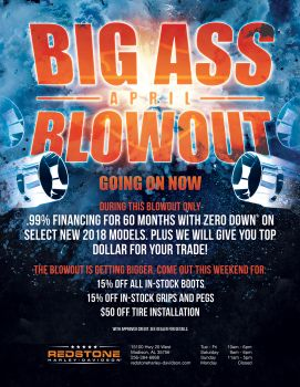 Big Ass April Blowout GETTIN bigger!