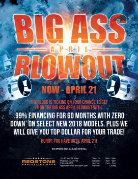 Big Ass April Blowout FINAL DAYS!