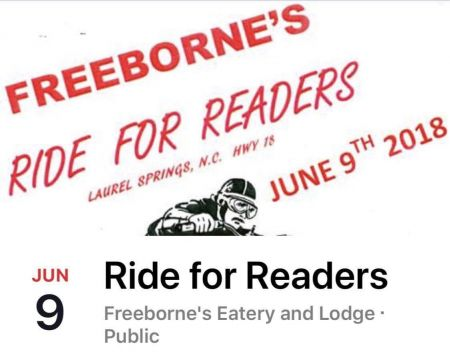 FreeBorne's Ride for Readers Saturday June 9th