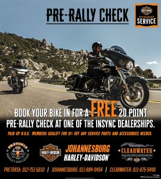 Free 20 Point Pre-Rally Check Promotion