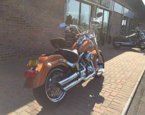 2014 FLSTF Softail Fat Boy Amber Whiskey, Full Stage One, Apes,