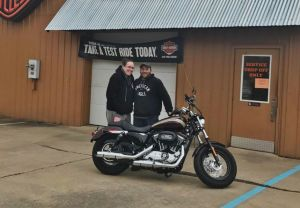 Colton and Amanda with their 2018 XL1200C!
