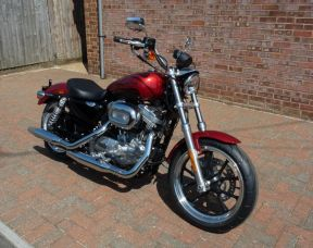 NEW 2018 XL883L Sportster SuperLow 883cc Wicked Red and Twisted Cherry