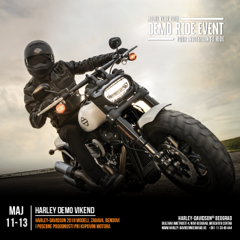 HARLEY DEMO VIKEND od 11 - 13. Maja 2018