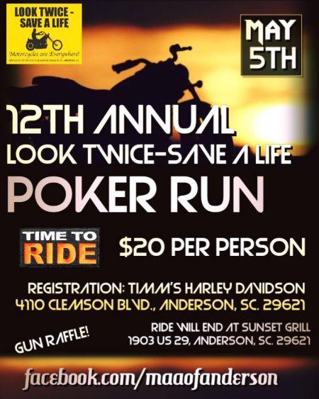 Look Twice Save A Life Poker Run Timms Harley Davidson