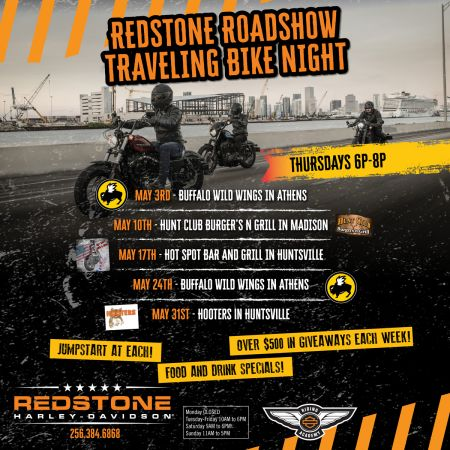 Redstone Roadshow Traveling Bike Night - BUFFALO WILD WINGS