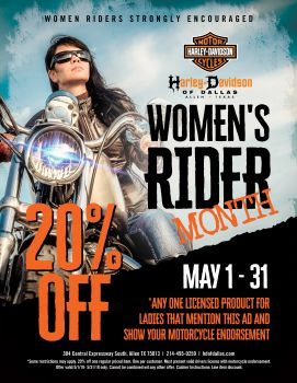 Ladies Rider Month!